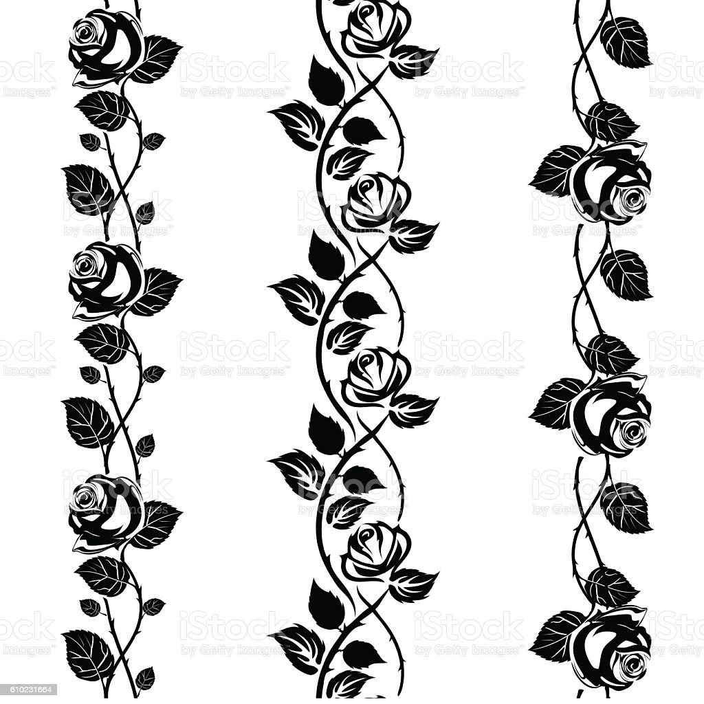 Rose tattoo vector art illustration