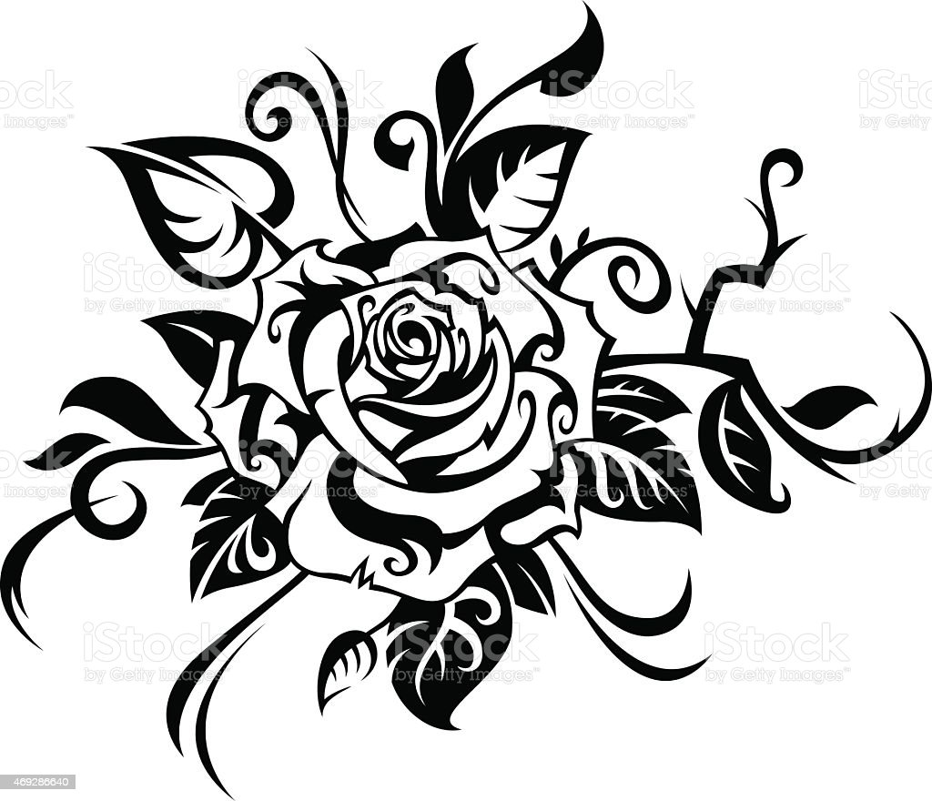 rose stock vector art more images of 2015 469286640 istock rh istockphoto com rose vector art free download rose vector art black and white