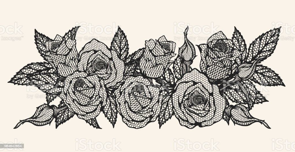 Rose vector lace by hand drawing royalty-free rose vector lace by hand drawing stock vector art & more images of illustration