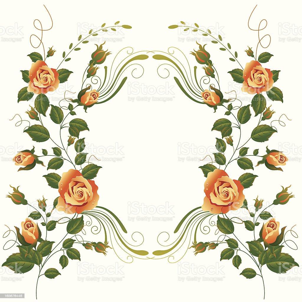 Rose Vine Frame Stock Illustration Download Image Now Istock