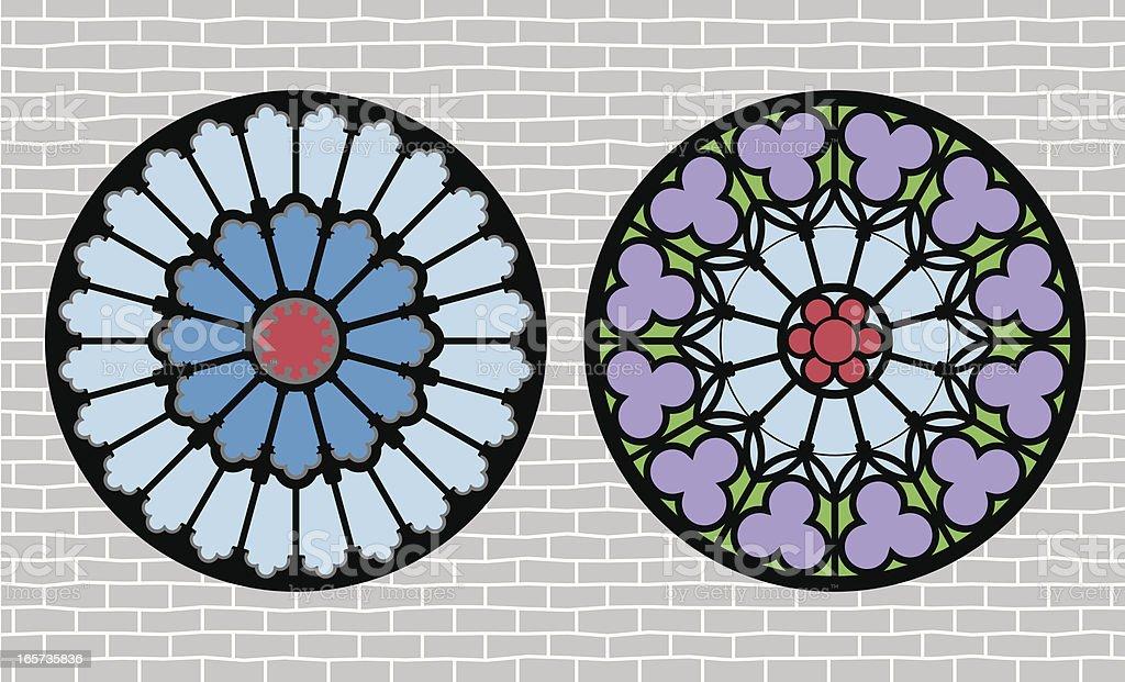 Rose Window royalty-free stock vector art