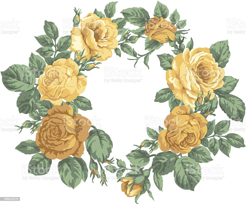 Rose wreath royalty-free stock vector art