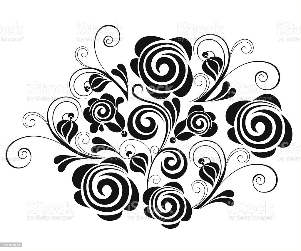 rosebush royalty-free rosebush stock vector art & more images of abstract
