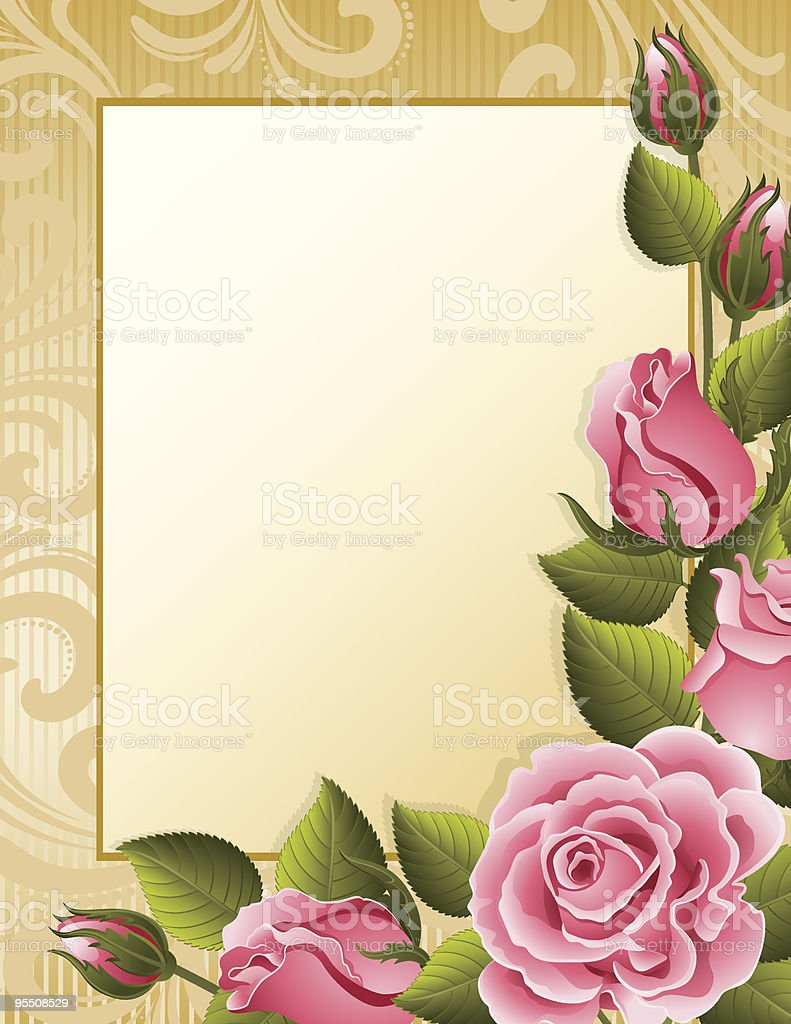 Roses background royalty-free stock vector art