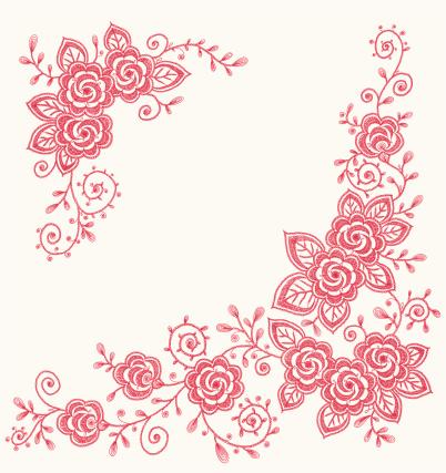 Roses Clip art Corners.