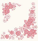 istock Roses Clip art Corners. 165765272