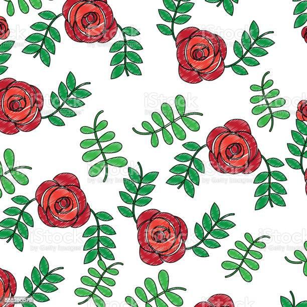 Roses flower natural leaves decoration pattern vector id888250872?b=1&k=6&m=888250872&s=612x612&h=cqg2uddlnofkcthosrgzobclnh7ymtalarqc4hrktku=