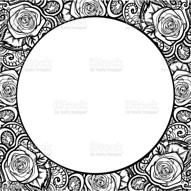 Roses frame round border with leaves and mehndi black and white vector id1172275492?b=1&k=6&m=1172275492&s=612x612&h=gy6msr0xehmjxktnenpxsvf7ioctiulh9drju4ukjxe=