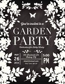 istock Roses Garden Party Chalkboard Invitation Template 498091765