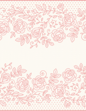 Roses Lace Seamless Pattern.