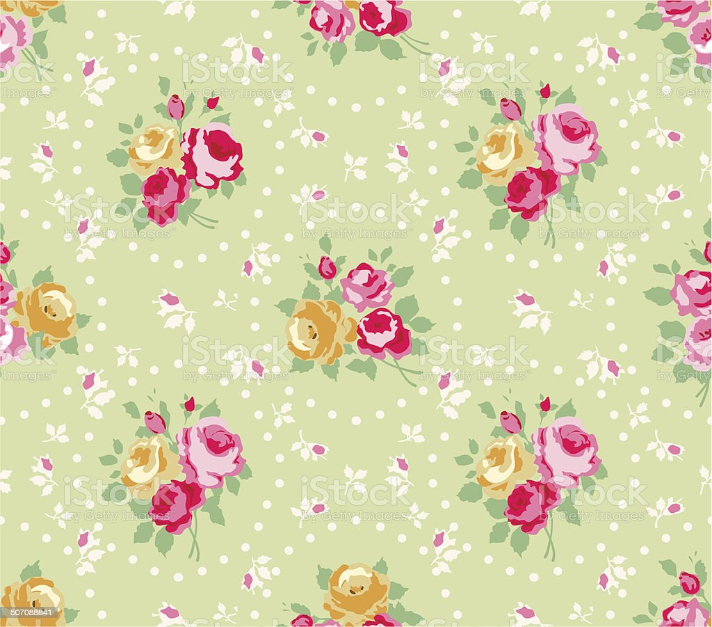 Roses pattern vector art illustration