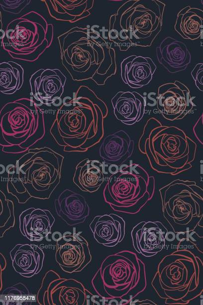 Roses seamless background pattern hand drawn contour lines and vector id1176958478?b=1&k=6&m=1176958478&s=612x612&h=mi0dwzxq12zxdl90 jz5nw1jkmxj1ofqydvz2csaqe0=
