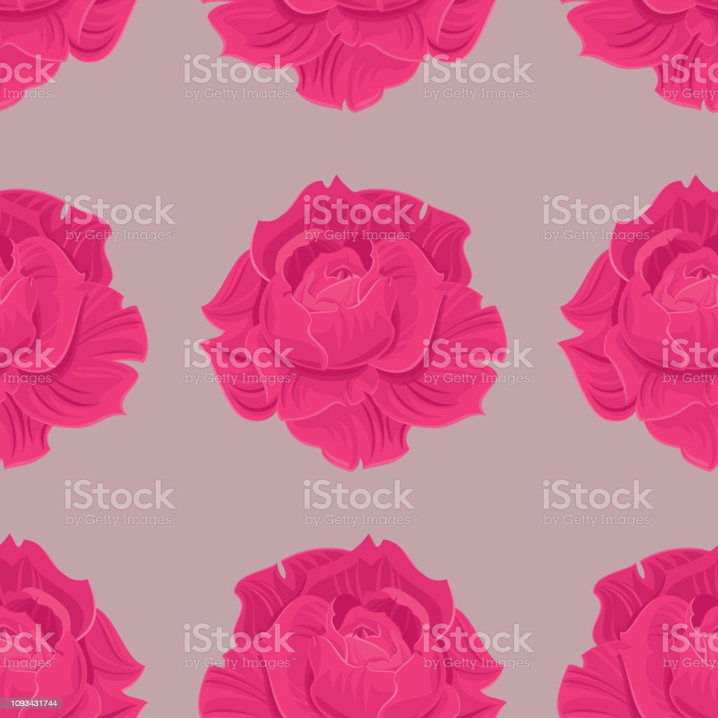 Roses Seamless pattern - Royalty-free Abstract stock vector