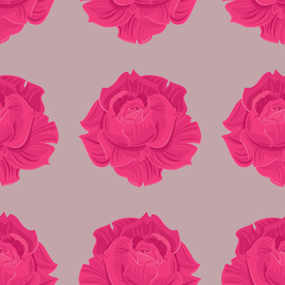 Roses Seamless Pattern Stock Illustration - Download Image Now
