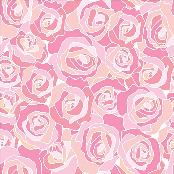 Roses - seamless texture vector art illustration