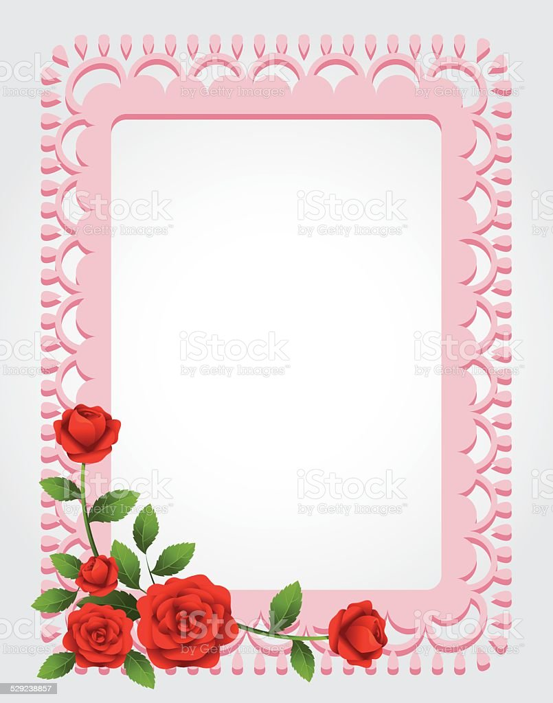Roses Squareshaped Frame Border Stock Vector Art & More ...
