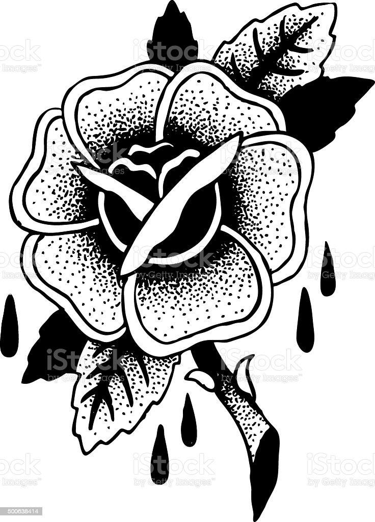 Ilustracion De Rosas Tatuaje Boceto Y Mas Vectores Libres De