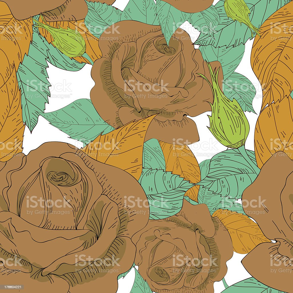 Roses texture royalty-free stock vector art