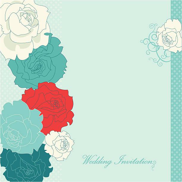 illustrazioni stock, clip art, cartoni animati e icone di tendenza di nozze invito rose () - love word