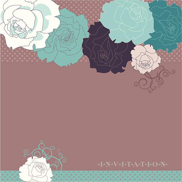 illustrazioni stock, clip art, cartoni animati e icone di tendenza di rose (invito) - love word