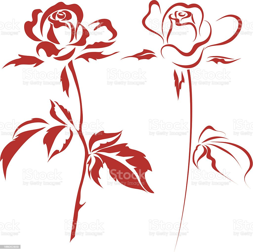 roses royalty-free roses stock vector art & more images of beauty in nature