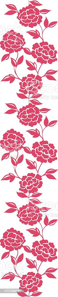 Roses Vertical seamless royalty-free stock vector art