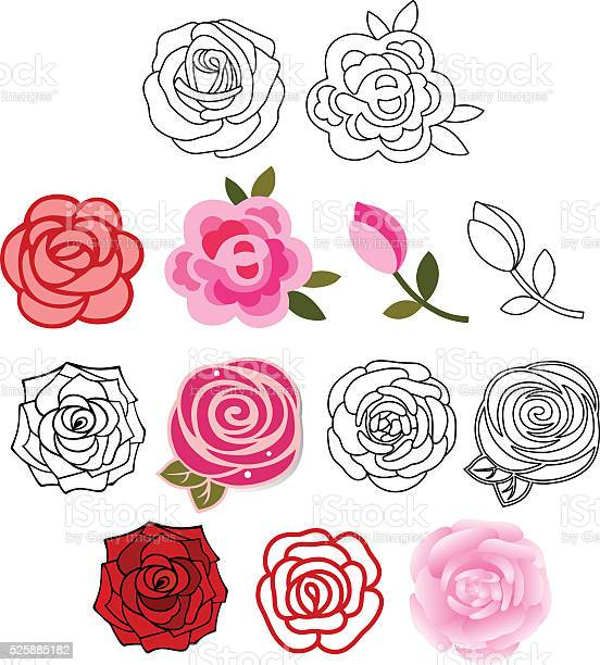 Roses with leaves set vector id525885182?b=1&k=6&m=525885182&s=612x612&h=pmi4nw 2i 0r5iwzyqjgykpckrqphunhwtidtauox70=