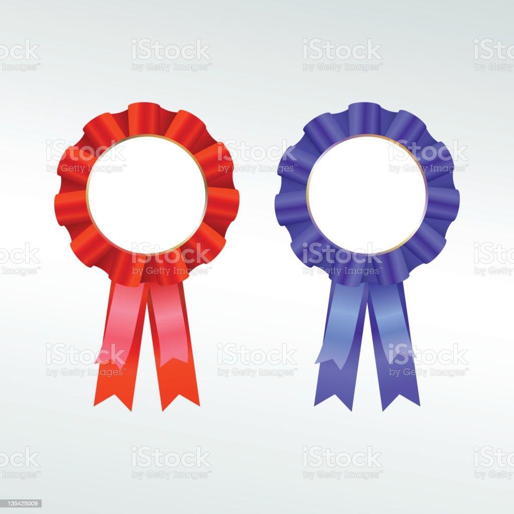 Rosette ribbon royalty-free rosette ribbon stock vector art & more images of achievement