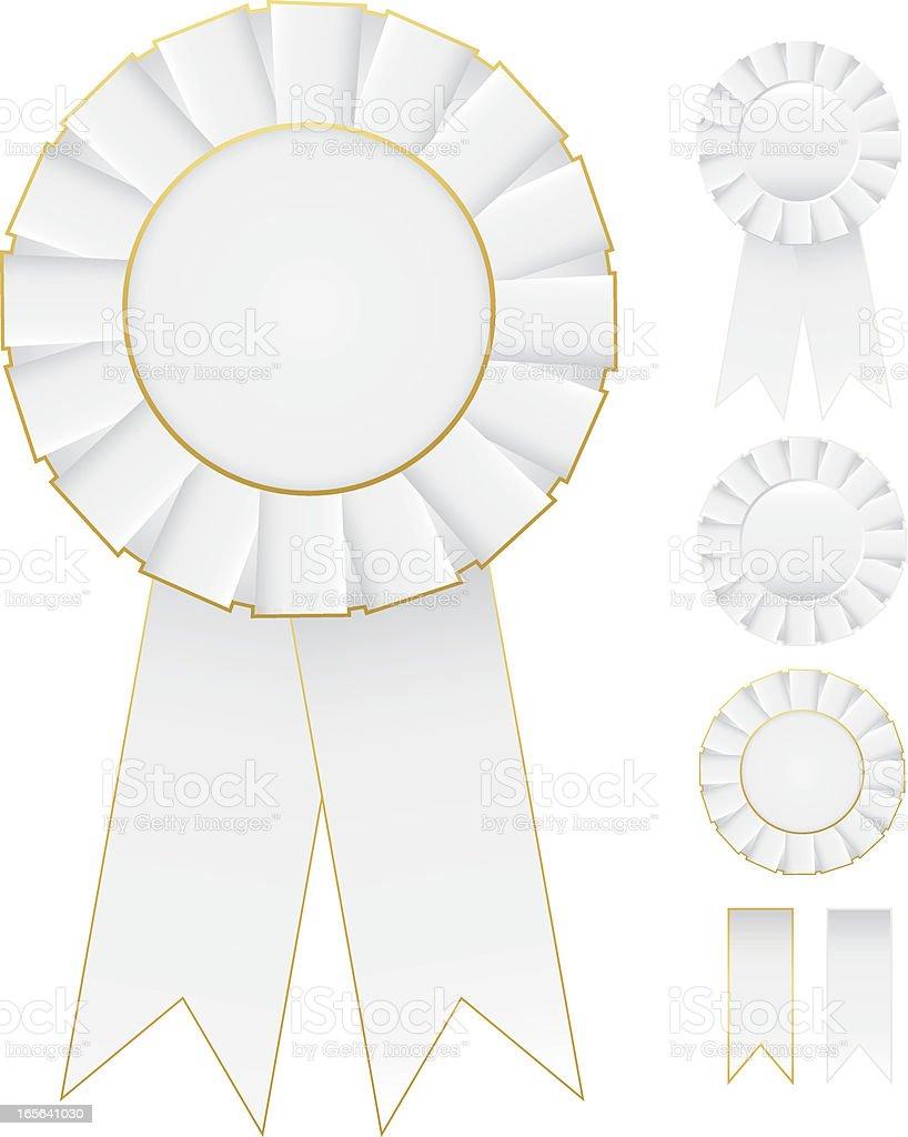 Rosettes Set - White royalty-free stock vector art