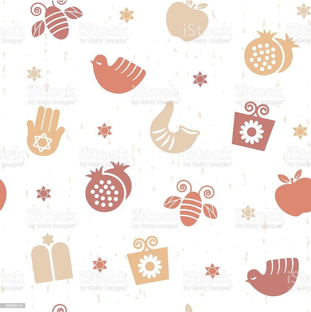 Rosh Ha Shanah Seamless Pattern royalty-free rosh ha shanah seamless pattern stock vector art & more images of animal markings