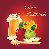 Shana tova greeting card for jewish new year with flowers and rosh hashana jewish new year greeting card m4hsunfo
