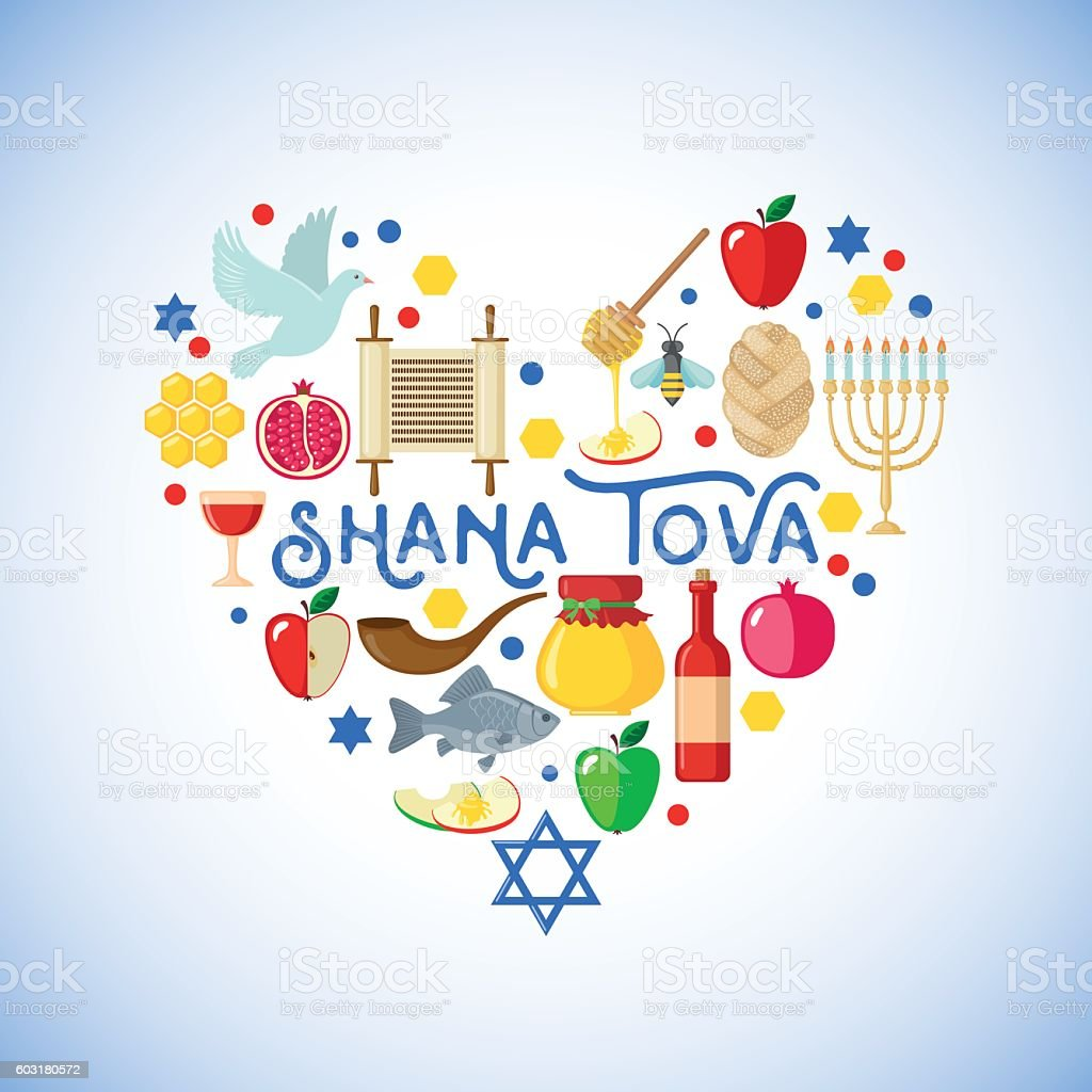 Rosh Hashanah Greeting Card Stock Vector Art More Images Of Apple