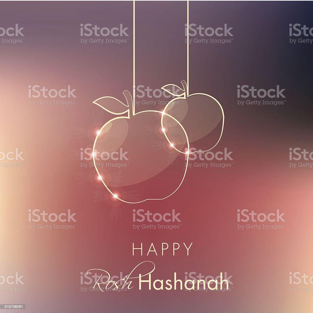 rosh hashanah holiday greeting vector illustration vector art illustration