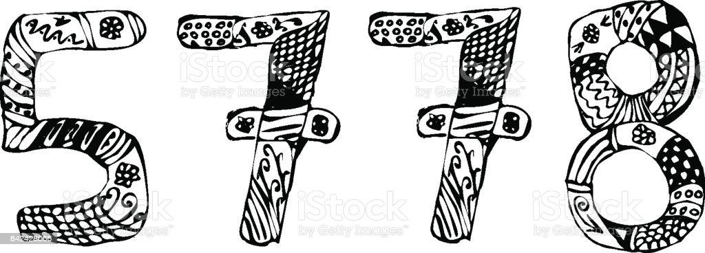 Rosh Hashanah The Jewish New Year 5778 Year Doodle Hand Draw Vector