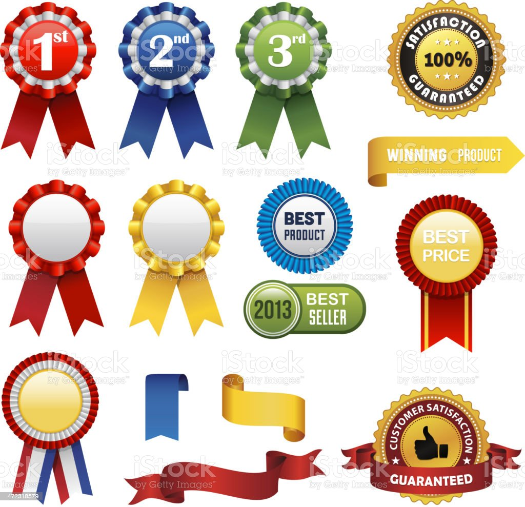 Rossete and Badges Collection royalty-free stock vector art
