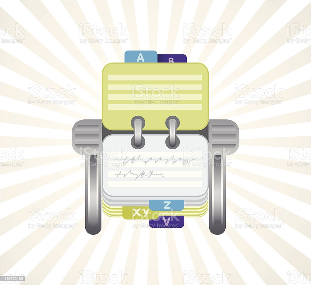 Rotary Card File royalty-free stock vector art