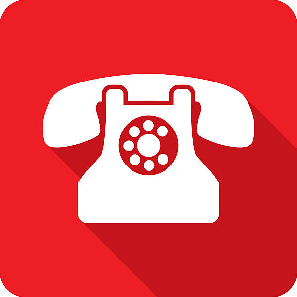 Rotary Phone Icon Silhouette vector art illustration