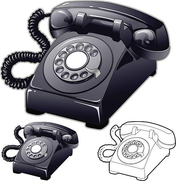 Rotary Phone vector art illustration