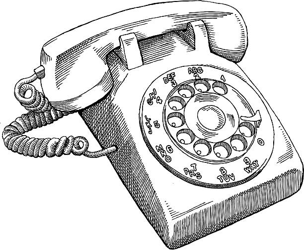 Best Rotary Telephone Illustrations, Royalty-Free Vector ...