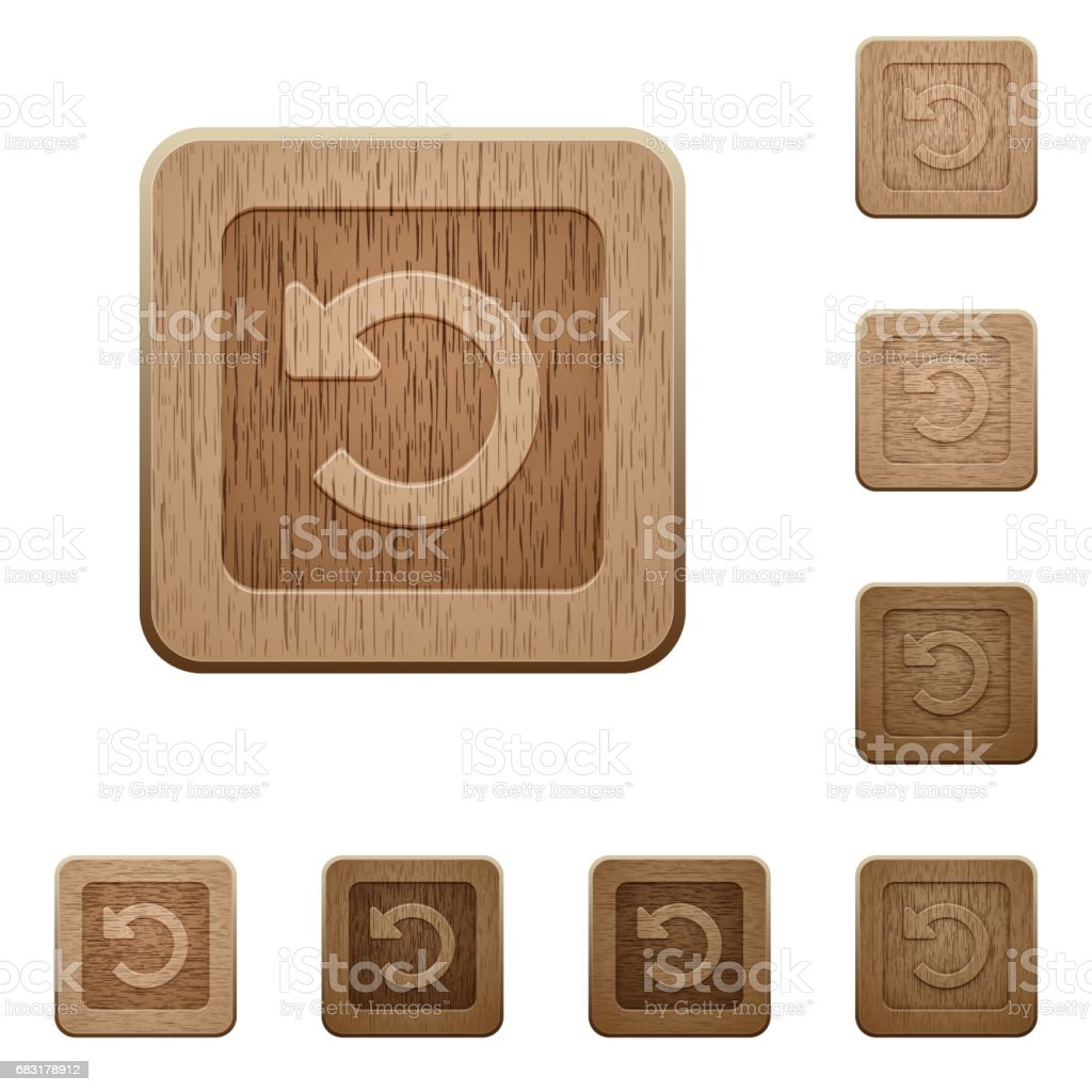 Rotate left wooden buttons royalty-free rotate left wooden buttons sport set에 대한 스톡 벡터 아트 및 기타 이미지