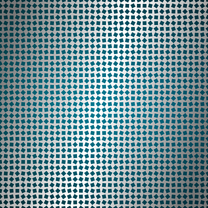 Rotated squares on metal surface, mesh