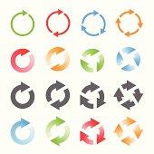 Rotating Arrows Set. Vector Illustration