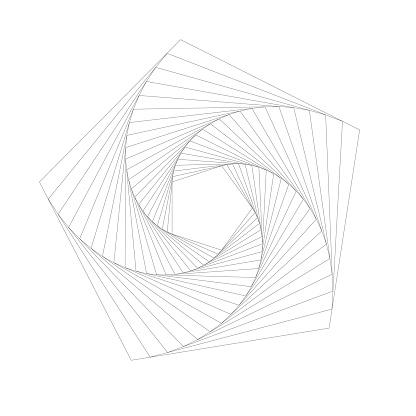 Rotating pentagon pattern
