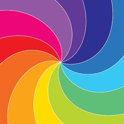 Rotating rainbow