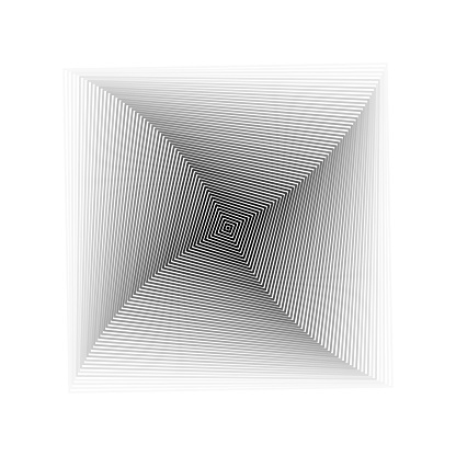 Rotating square pattern, like top view of pyramid