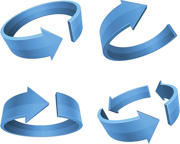 Rotation Arrows vector art illustration