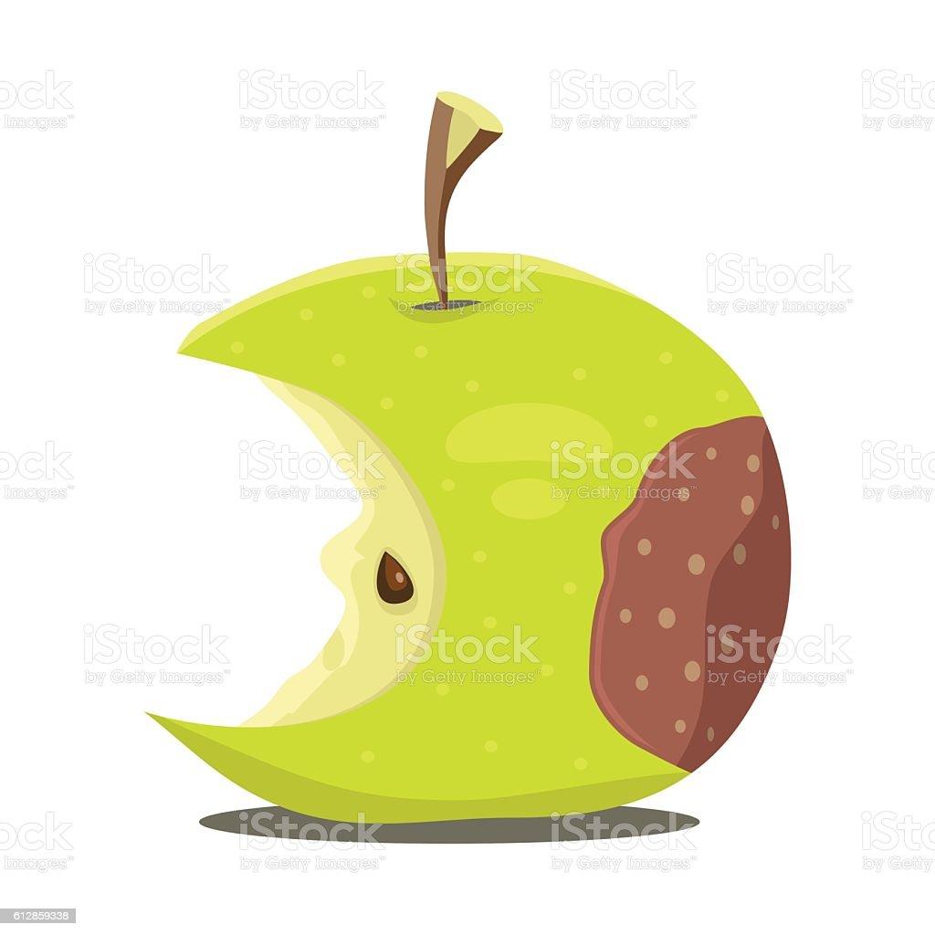 Rotten apple vector art illustration