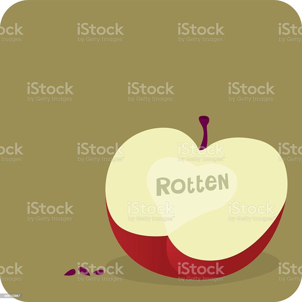 Rotten Apple - Royalty-free Appel vectorkunst