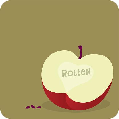 Rotten Apple Stockvectorkunst en meer beelden van Appel