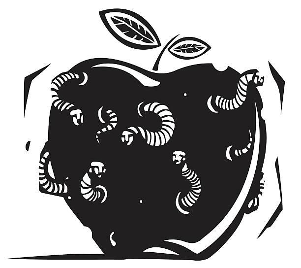 Royalty Free Rotten Apple Clip Art, Vector Images ... (612 x 544 Pixel)